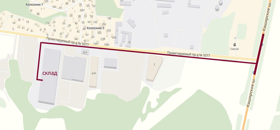 Схема проезда до склада